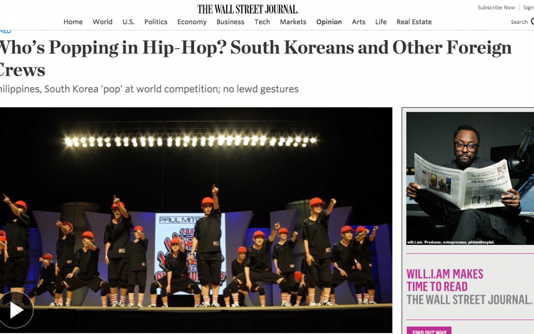 Who's Popping in Hip-Hop? South Koreans and Other Foreign Crews