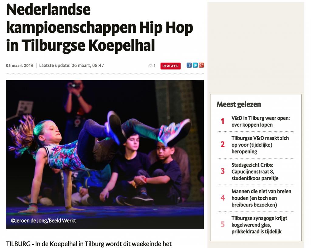Dutch Hip Hop Championships in Tilburg Koepelhal