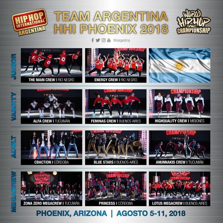 HHI Argentina: La Crew Juvenil Femenina de la academia Davinci representará a la Argentina en el escenario del Mundial de Hip-Hop 2018 de Estados Unidos